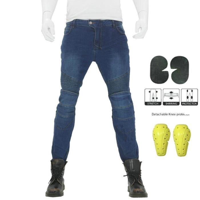 Hommes Moto Équipement de protection Pantalon d'équitation Pantalon de moto Motocross Jeans