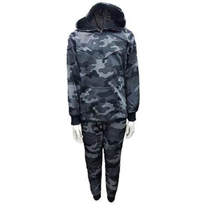 SCB Online Enfants Garçons Camouflage Printtracksuit Haut à Capuche & Jogging Bas Ensemble 4-14 Ans