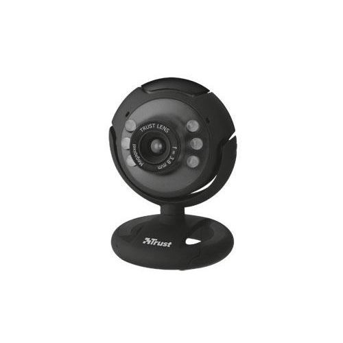TRUST Webcam avec LED - Noir