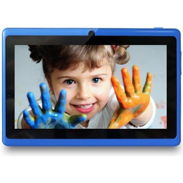 YUNTAB Tablette tactile Q88 7'' Bleu IPS Allwinner A33 Quad Core 8 GB Android 4.4 support externe TF carte