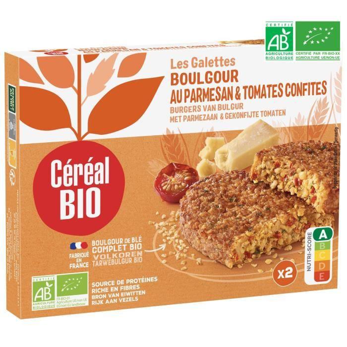 CEREAL BIO Galettes de boulghour, parmesan et tomates confites Bio - 200 g
