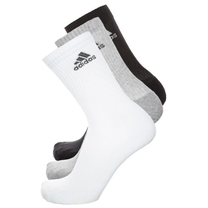 7447326a0940d ADIDAS Pack 3 paires Chaussettes Multisport Homme Blanc