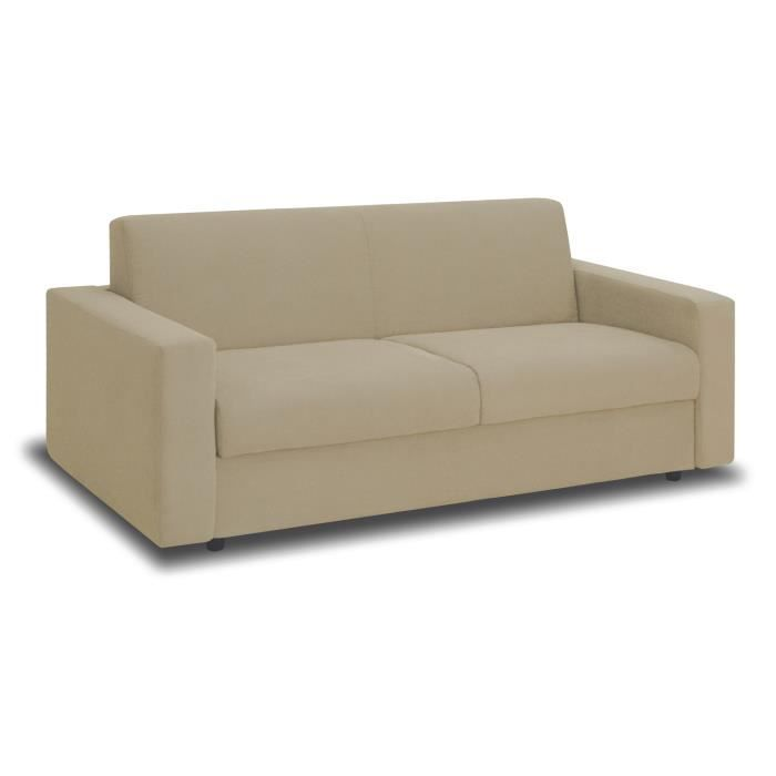 Canap convertible manitoba 3 places beige achat vente canap sofa di - Canape convertible beige ...