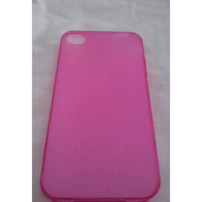 coque iphone 4 rose fushia