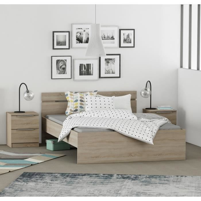 chambre a coucher complete adulte achat vente pas cher. Black Bedroom Furniture Sets. Home Design Ideas