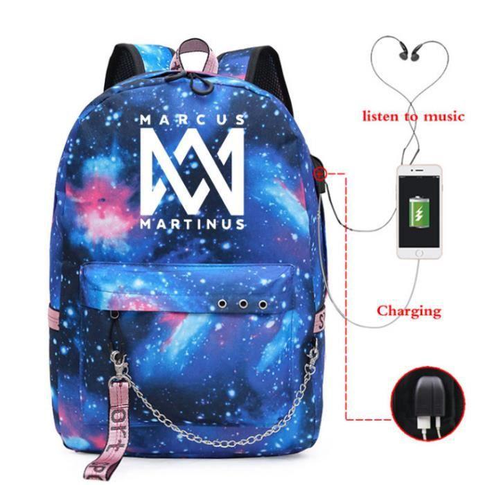 Marcus & Martinus USB Sac à Dos Bleu