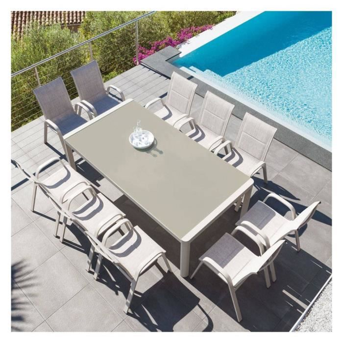 Table Absolu extensible 12 personnes taupe Hespéride - Achat ...