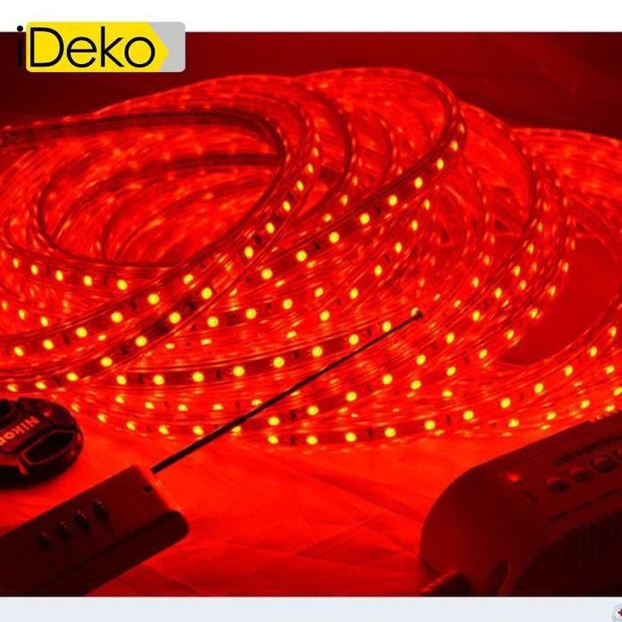 ideko 220v 10m smd 5050 led ruban bande strip 600 leds clairage tanche waterproof utiliser. Black Bedroom Furniture Sets. Home Design Ideas