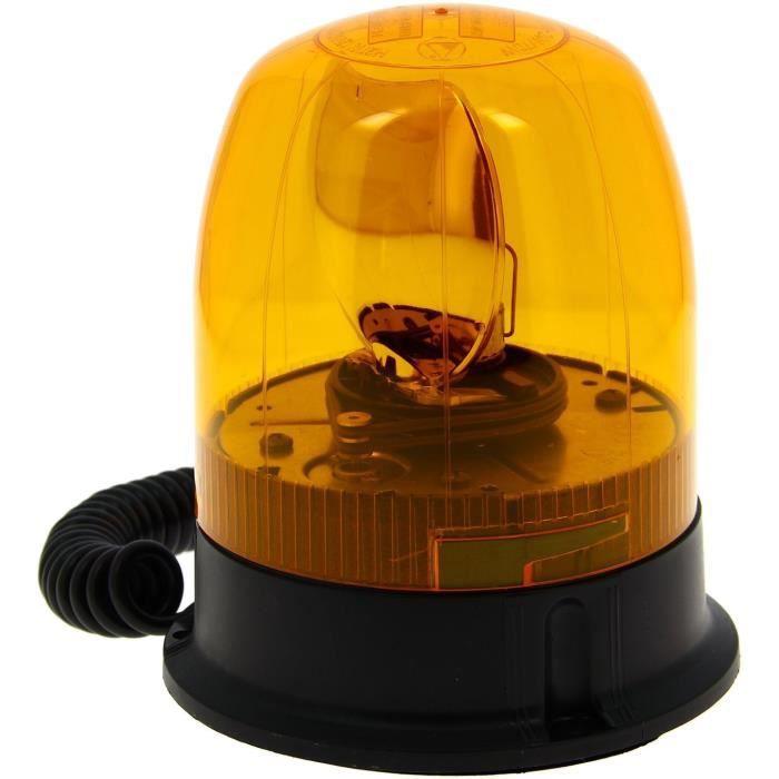 Silverline 633728 Gyrophare 12 V Orange