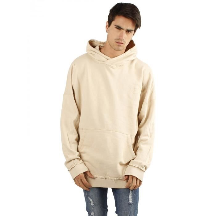 hoodie oversize homme blanc