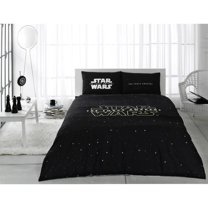 star wars imprim e 100 coton 2 personnes parure de couette 4pcs housse de couette 200x220 cm. Black Bedroom Furniture Sets. Home Design Ideas