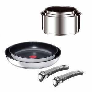 t fal ingenio ensemble gourmet induction inox s achat vente batterie de cuisine t fal. Black Bedroom Furniture Sets. Home Design Ideas