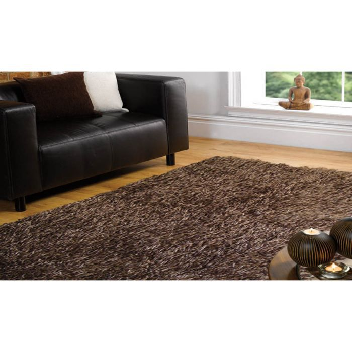 tapis poils long spider chocolate cm 180x270 achat vente tapis cdiscount. Black Bedroom Furniture Sets. Home Design Ideas