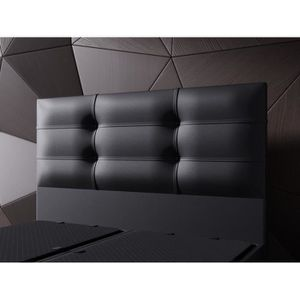 lit 140x190 noir achat vente lit 140x190 noir pas cher cdiscount. Black Bedroom Furniture Sets. Home Design Ideas