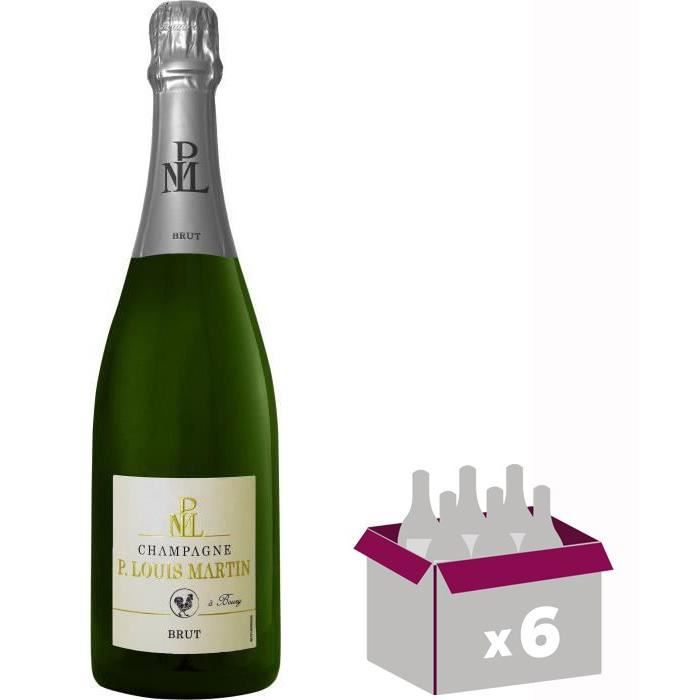 Paul Louis Martin Champagne Brut - Blanc - 75 cl x 6