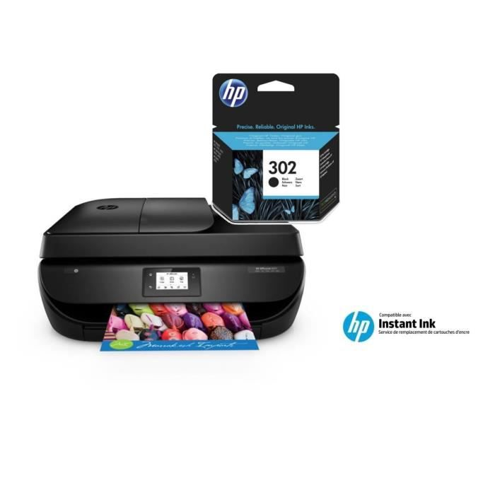 hp imprimante officejet 4657 compatible instant ink 4 mois d 39 essai offerts hp 302. Black Bedroom Furniture Sets. Home Design Ideas