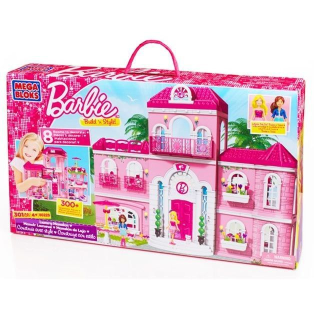 Barbie maison de la plage de mega bloks for Barbie chien piscine