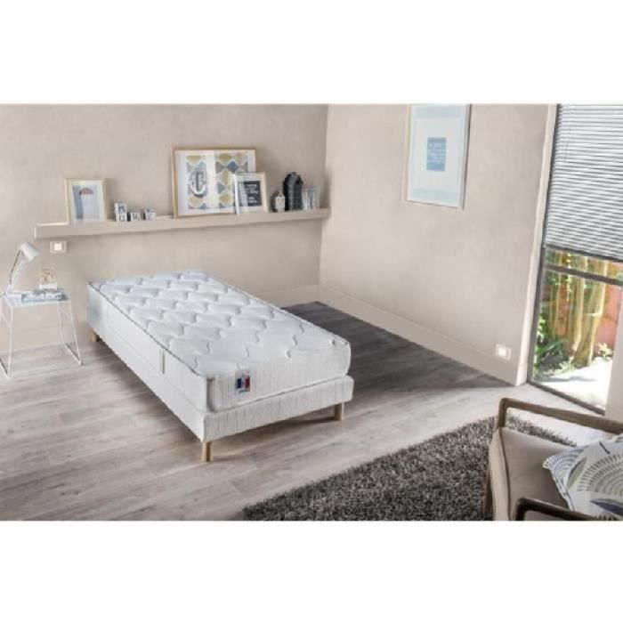 CONFORT DESIGN Ensemble matelas + sommier 90 x 190 - Latex - 16 cm - Equilibré