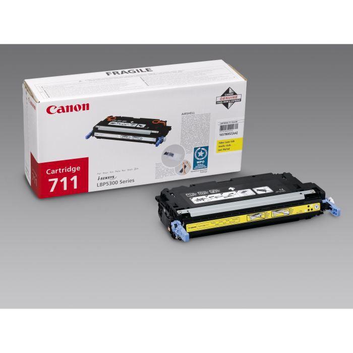 Canon 1 cartouche de toner 711 capacité standard Jaune