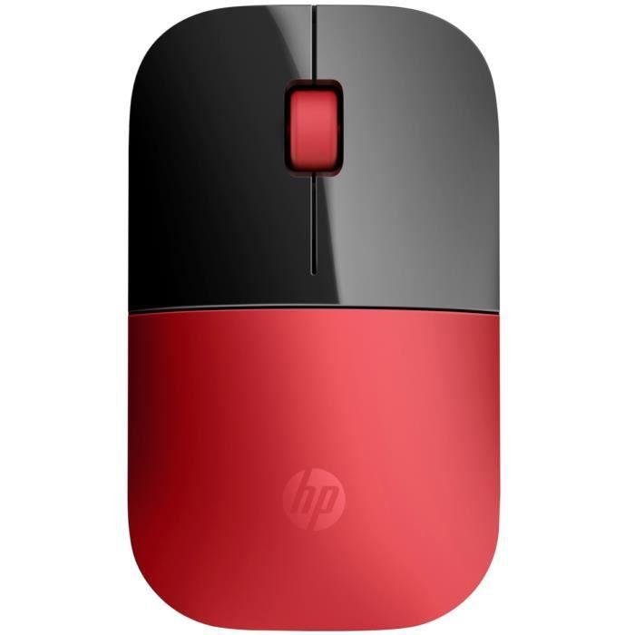 HP Souris Wireless Z3700 V0L82AA - Rouge cardinal