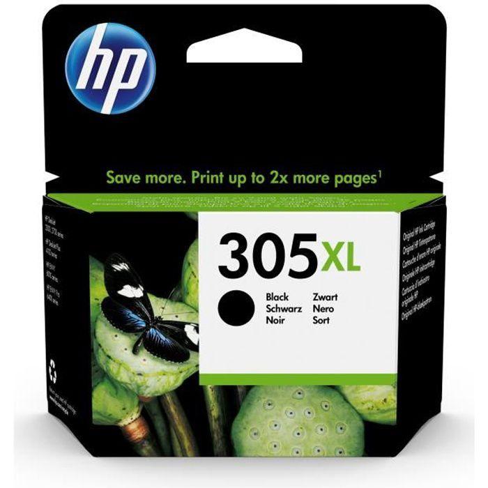HP 305XL Cartouche d'Encre Noir Grande Capacité Authentique pour HP DeskJet 2300/ 2700/Plus 4100, ENVY 6000/Pro 6400 (3YM62AE)