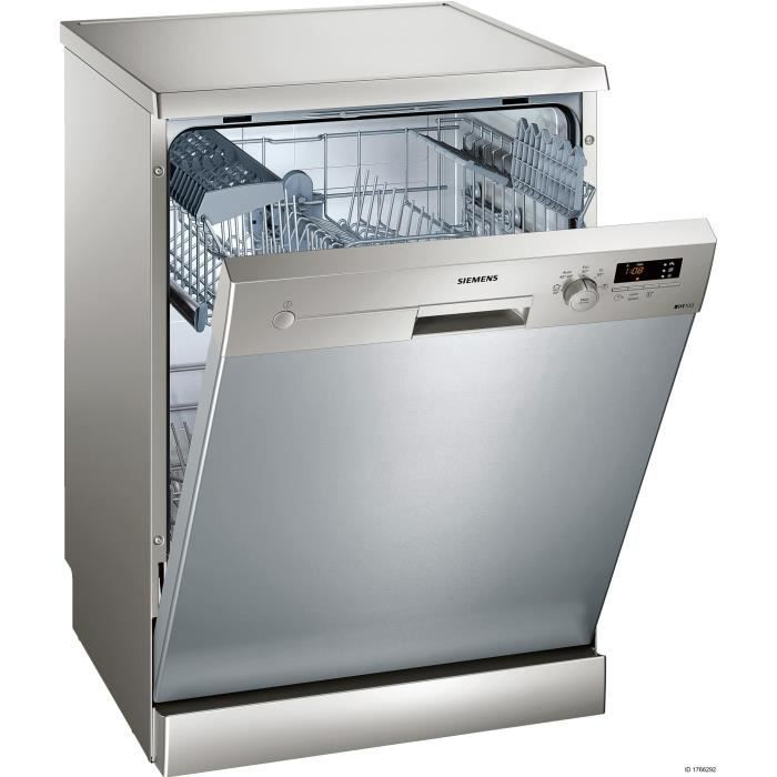 SIEMENS SN215I02AE - Lave-vaisselle pose libre - 12 couverts - A+ - Inox - Moteur induction