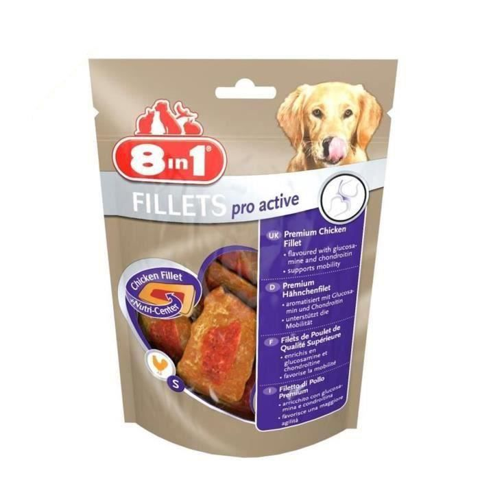 8in1 Lot de 2 Fillets Pro Active S Friandises pour chien 80g