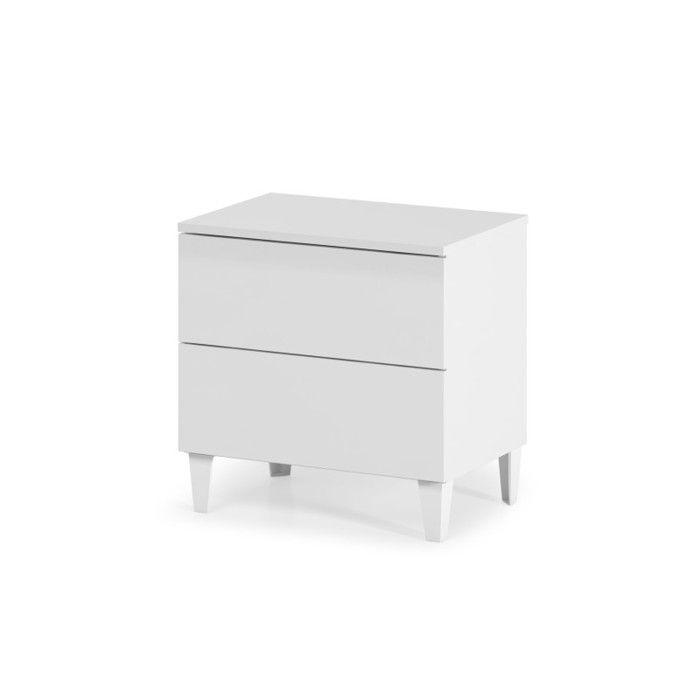 LOFT Chevet 50 cm - Blanc brillant