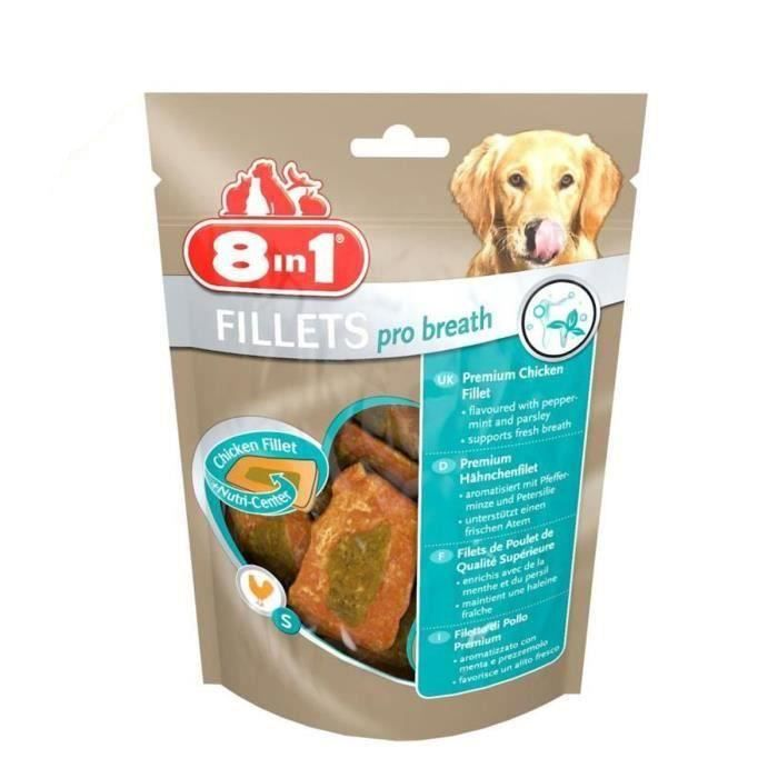 8in1 Lot de 2 Fillets Pro Breath S Friandises pour chien 80g