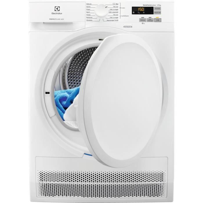 Sèche-linge à condensation ELECTROLUX EW6C5722CB - 7 kg - Classe B - Blanc