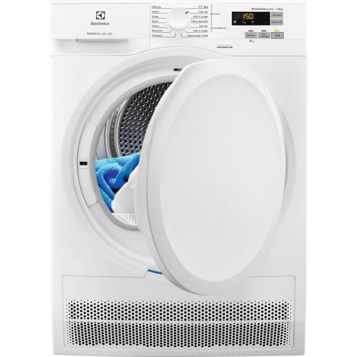 Sèche-linge à condensation ELECTROLUX EW6C5822CB - 8 kg - Classe B - Blanc