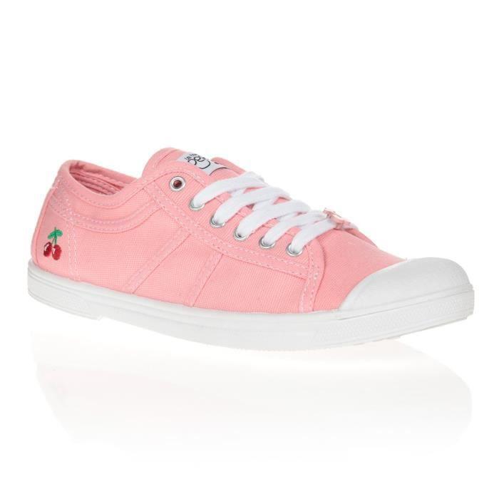 LE TEMPS DES CERISES Chaussures Basic 02 Coachella Rose/Blanc Femme