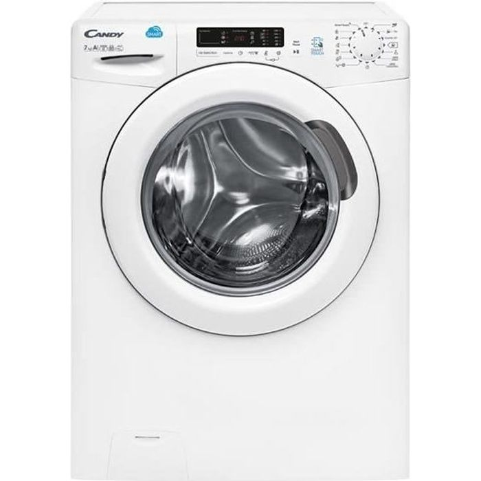 CANDY CS4 1272 D3 - Lave-linge frontal - 7kg - 1200 tours - A+++ - Connecté - Blanc