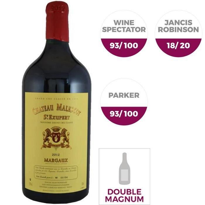 Double Magnum Château Malescot de Saint Exupéry 2012 Margaux - Vin rouge de Bordeaux