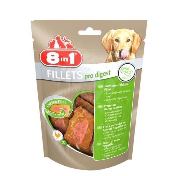 8in1 Lot de 3 Fillets Pro Digest S Friandises pour chien 80g