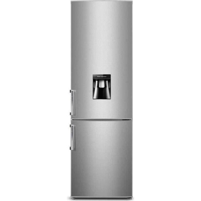 Réfrigérateur combiné argent