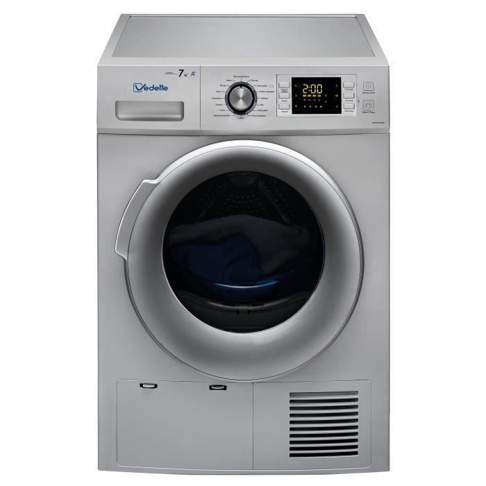 Sèche-linge pompe à chaleur VEDETTE VSF57H2DS - 7 kg - Classe A++ - Silver