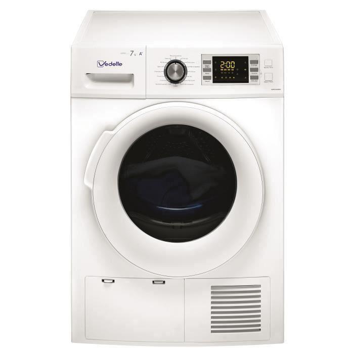 Sèche-linge pompe à chaleur VEDETTE VSF57H2DW - 7 kg - Classe A++