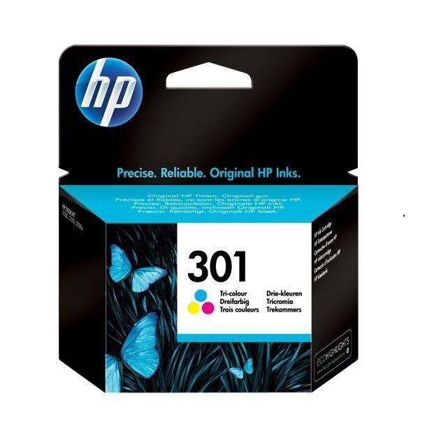 HP 301 cartouche d'encre trois couleurs authentique pour HP Envy 4505 et HP DeskJet 1050/1512/2548/3057A (CH562EE)