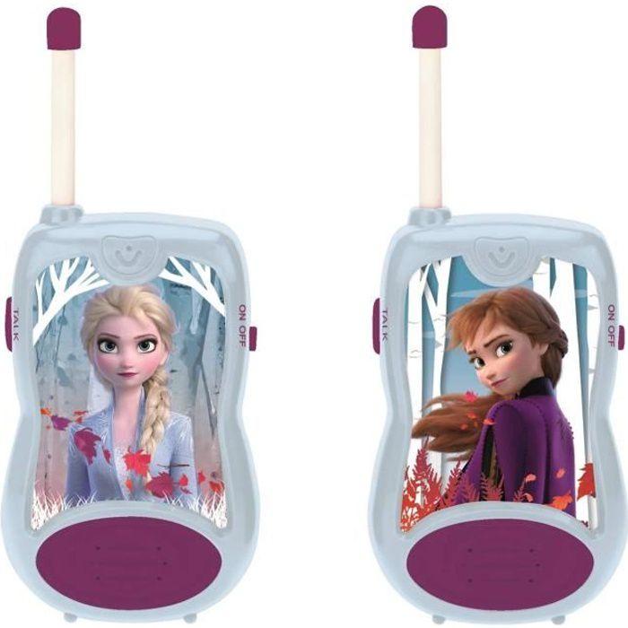 LA REINE DES NEIGES 2 Talkies-walkies enfant Elsa et Anna 100 mètres de portée LEXIBOOK