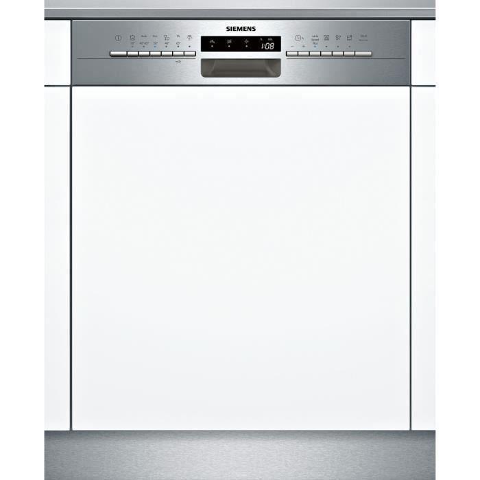 Lave-vaisselle encastrable SIEMENS SN536S02GE - 12 couverts - Induction - L60cm - 44dB - Bandeau inox