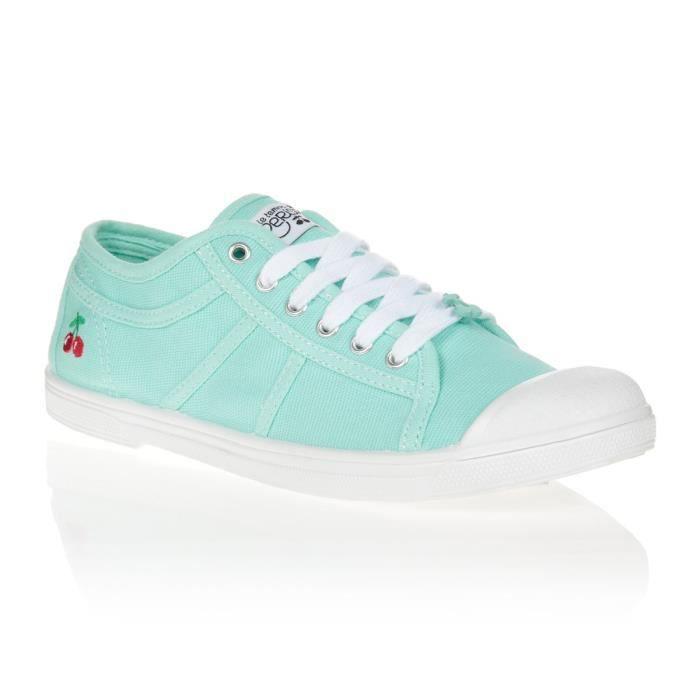 LE TEMPS DES CERISES Chaussures Basic 02 Lagon Vert d'Eau/Blanc Femme