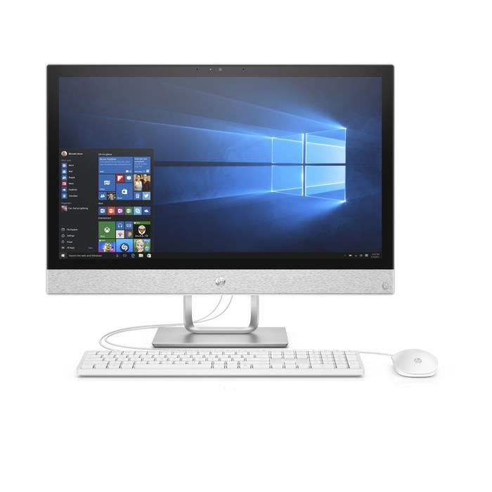 Ordinateur Tout-en-un - HP Pavilion 24-r112nf - 23,8 pouces FHD - Core i3-8100T - 8Go de RAM - Disque Dur 1To HDD - Windows 10