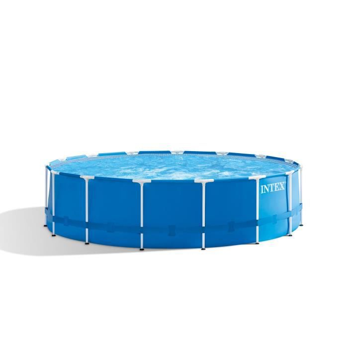INTEX Kit piscine tubulaire ronde Métal Frame - 457,2 x 121,92 cm