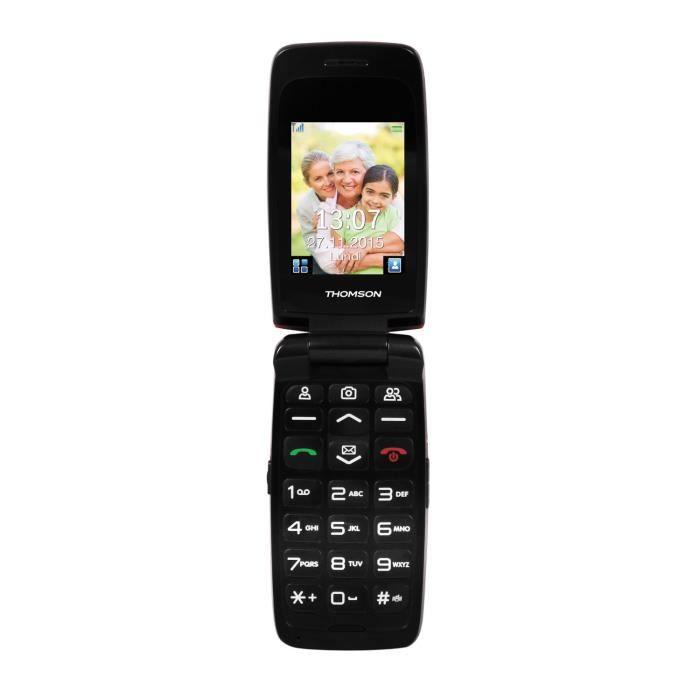 Thomson Serea 62 Rouge - Téléphone pour Senior