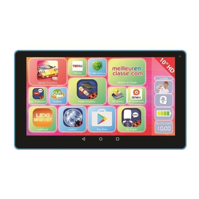 LEXIBOOK - Tablette Tactile Enfant LexiTab - 10 lbs - Bluetooth - Wi-Fi - Android - Contenu Pédagogique et Ludique - Avec Control Pa