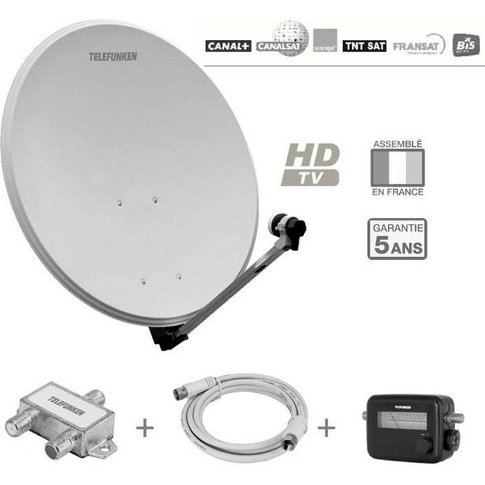 TELEFUNKEN T-S802TV Antenne extérieure pack réception Sat 2 TV