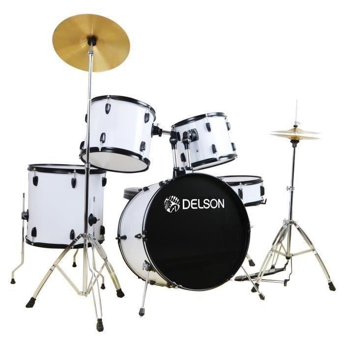 DELSON Batterie 5 fûts - Blanc