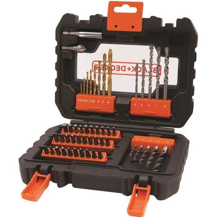 BLACK&DECKER Coffret 50 accessoires perçage vissage A7232