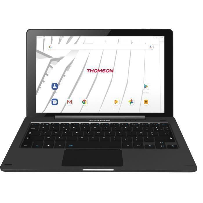 THOMSON Tablette Tactile + Clavier - 10- HD IPS - RAM 2Go - Stockage 32Go - Android 9.0 - Noir